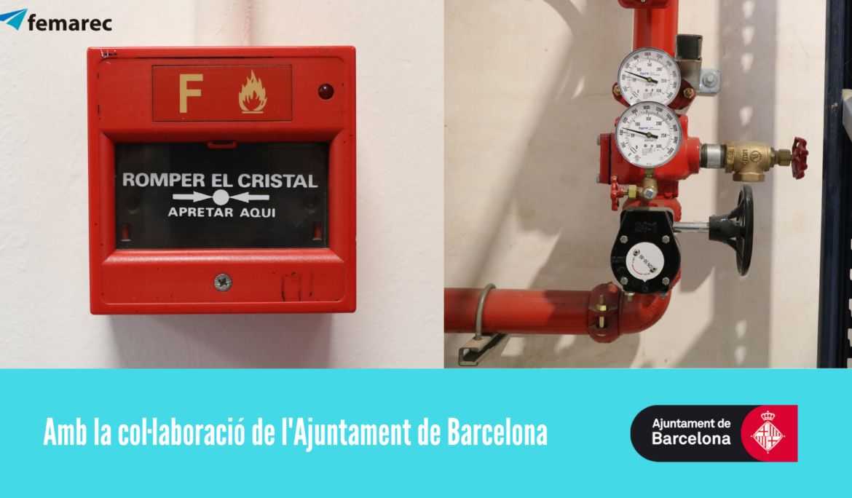L'Ajuntament de Barcelona col·labora amb l'equipament de prevenció d'incendis a l'Espai Femarec