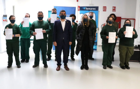 Chakir El Homrani, Conseller de Treball, Afers Socials i Famílies visita Femarec