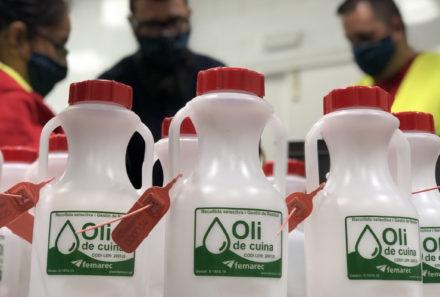 Servei de Recollida d'oli de cuina des del Servei Prelaboral i SISL
