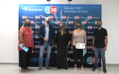 Felix Ortega, Director de Barcelona Activa, visita Femarec